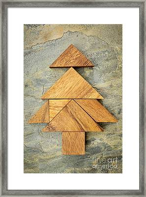 tangram christmas tree framed print by marek uliasz