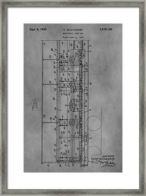 Tank Car Patent Framed Print