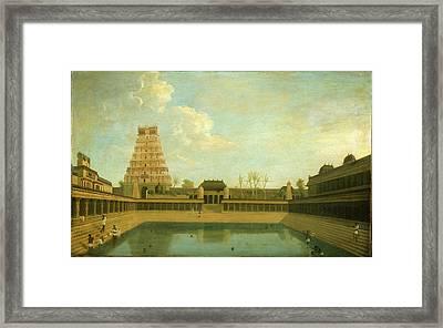 Tank In The Shiva Temple Framed Print