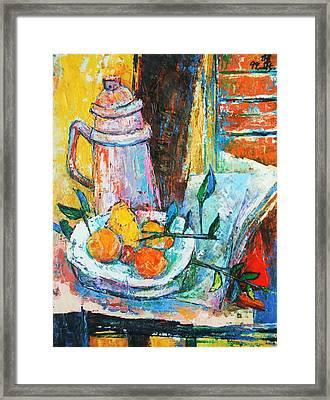 Tankard And Fruit Framed Print by Siang Hua Wang