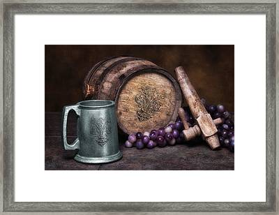Tankard Of Drink Still Life Framed Print by Tom Mc Nemar