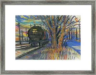 Tankers On The Line Framed Print by Donald Maier