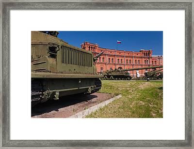 Tanks At Museum Of Artillery Framed Print