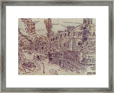 Tanks At St Lo France Framed Print