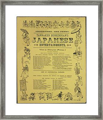 Tannaker Buhicrosan's Japanese Entertainm Framed Print