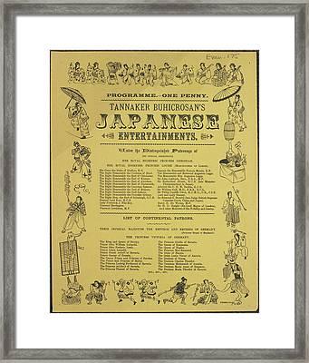 Tannaker Buhicrosan's Japanese Entertainm Framed Print by British Library