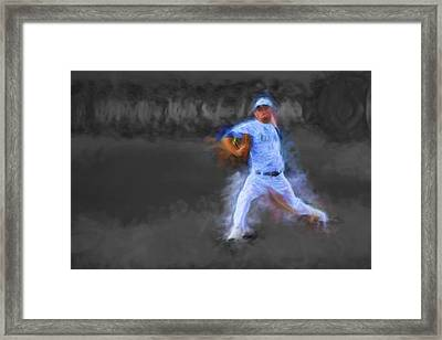 Tanner Tully Elkhart Central Blazers Pitches The Winning Game Champs 2013 Framed Print by David Haskett