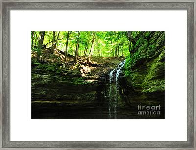 Tannery Falls In Michigan's Upper Peninsula Usa Framed Print