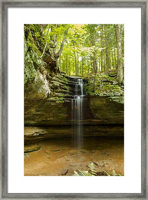 Tannery Falls Framed Print by Jill Laudenslager