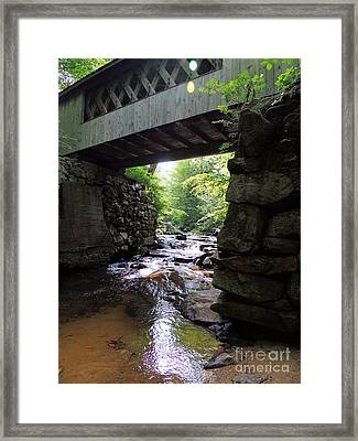Tannery Hill Bridge Framed Print by Mim White