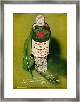 Tanqueray Gin Framed Print