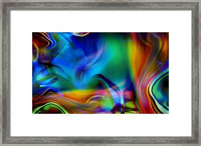 Tantalizing Fish Frolic Framed Print