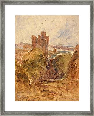Tantallon Castle , A Study, Unknown Artist Framed Print by Litz Collection