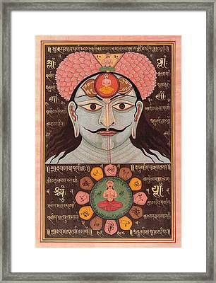 Tantra Yantra Miniature Painting Indai Wall Decor Veda Vedic Artwork  Framed Print by A K Mundhra