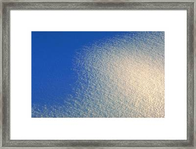 Framed Print featuring the photograph Tao Of Snow by Mark Greenberg