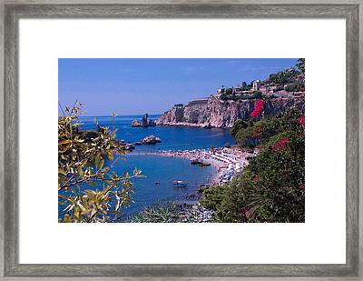 Taormina Beach Framed Print