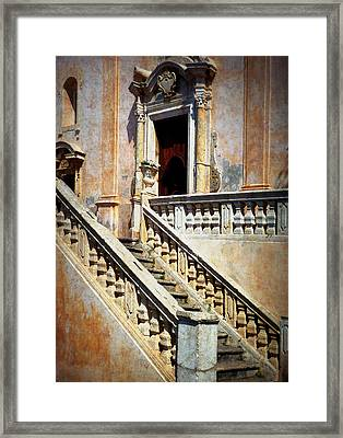 Taormina Staircase Framed Print by Carla Parris