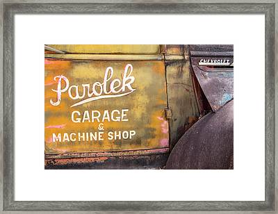 Framed Print featuring the photograph Taos Chevy by Steven Bateson