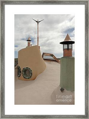 Taos Earth Ship House Framed Print