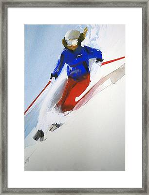 Framed Print featuring the painting Taos by Ed  Heaton