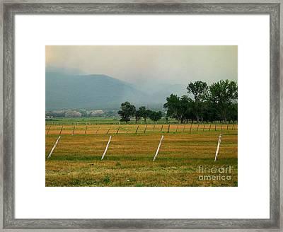 Taos Fields Framed Print by Steven Ralser