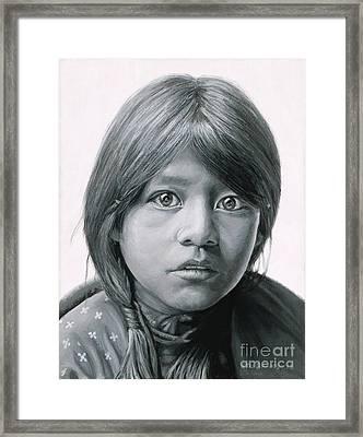 Taos Girl Framed Print