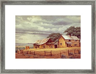 Taos Homestead Framed Print