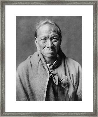 Taos Indian Circa 1905 Framed Print by Aged Pixel