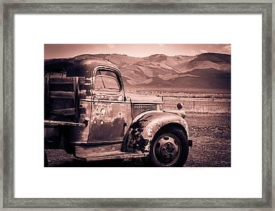 Taos Mountain G M C Framed Print by Steven Bateson