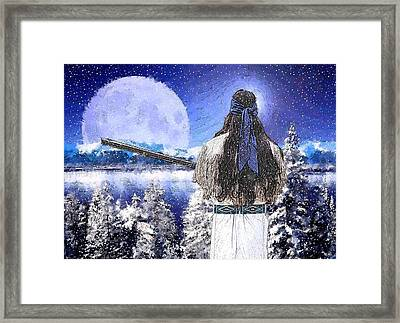 Taos Mountain Man Framed Print by Roger D Hale