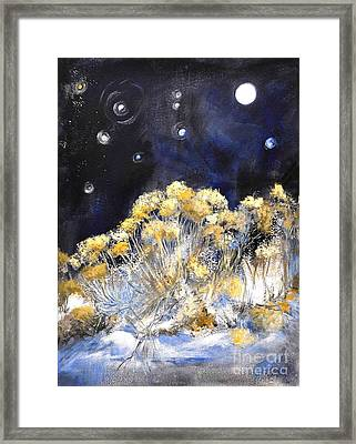 Taos Night Orbs Framed Print by Glory Wood