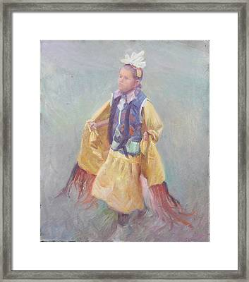 Taos Pueblo Princess Framed Print