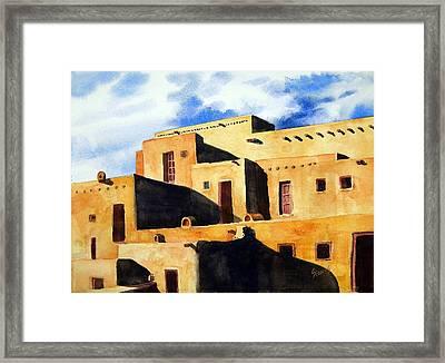 Taos Pueblo Framed Print by Sam Sidders