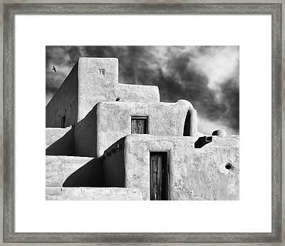 Taos Pueblo Stacks Framed Print