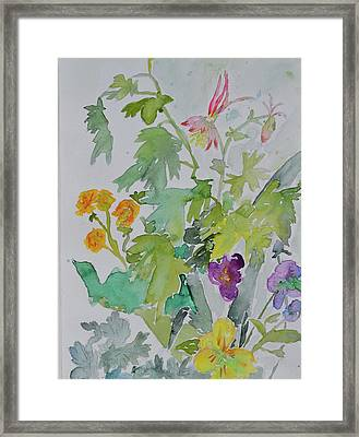 Framed Print featuring the painting Taos Spring by Beverley Harper Tinsley