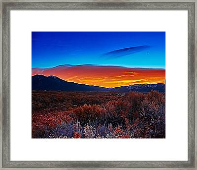 Taos Sunrise X Framed Print