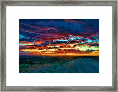 Taos Sunset Iv Framed Print