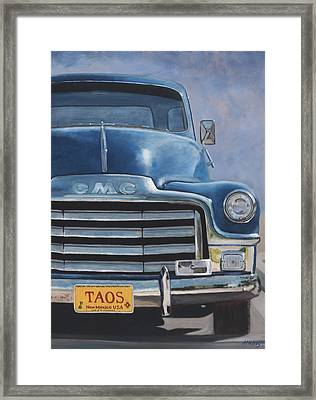 Taos Truck Framed Print by Jack Atkins