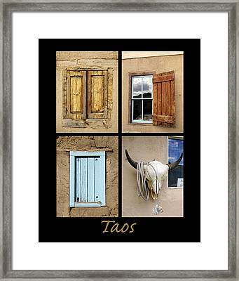 Taos Windows  Framed Print by Ann Powell