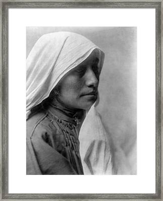 Taos Woman Circa 1905 Framed Print by Aged Pixel