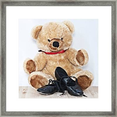 Tap Dance Shoes And Teddy Bear Dance Academy Mascot Framed Print