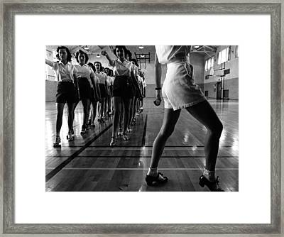 Tap Dancing Class 1942 Framed Print by Mountain Dreams