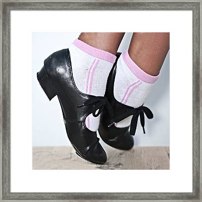 Tap Dance Shoes From Dance Academy - Tap Point Tap Framed Print