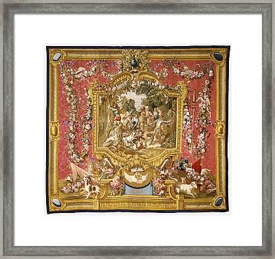 Tapestry La Poltronnerie De Sancho à La Chasse Framed Print by Litz Collection