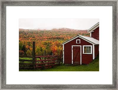 Tapestry Of Fall Colors Framed Print by Jeff Folger