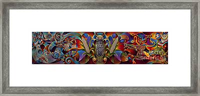 Tapestry Of Gods Framed Print by Ricardo Chavez-Mendez
