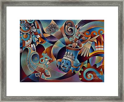 Tapestry Of Gods - Tlaloc Framed Print