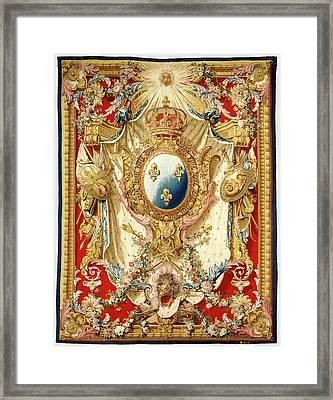 Tapestry Portière Aux Armes De France Woven Framed Print