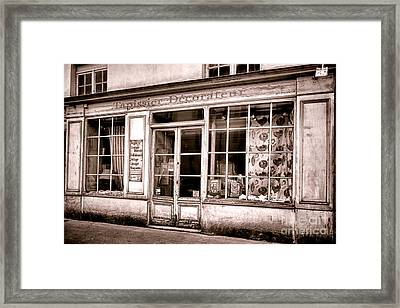 Tapissier Decorateur Framed Print by Olivier Le Queinec