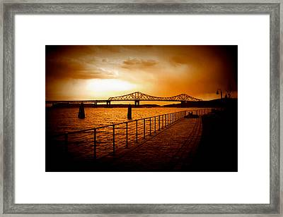 Framed Print featuring the photograph Tappan Zee Bridge by Aurelio Zucco